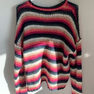 Forever 21 Colourful Striped Sweater